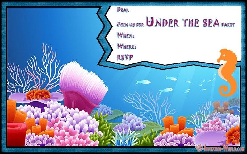 Under the sea birthday party invitation 150x150 - Under the sea blank invitation