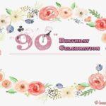 free 90th birthday party invitation