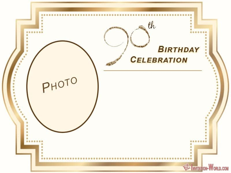 Free Printable 90th Birthday Invitation