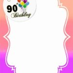 printable 90th birthday invitation