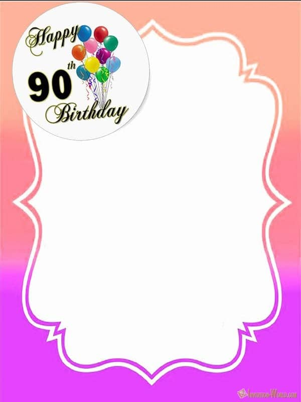 Printable 90th Birthday Invitation
