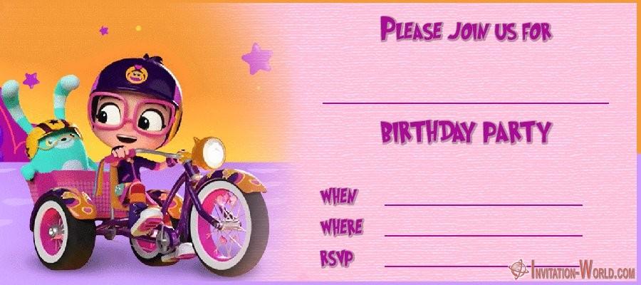 Abby Hatcher Birthday Invitation - Abby Hatcher Invitation Templates