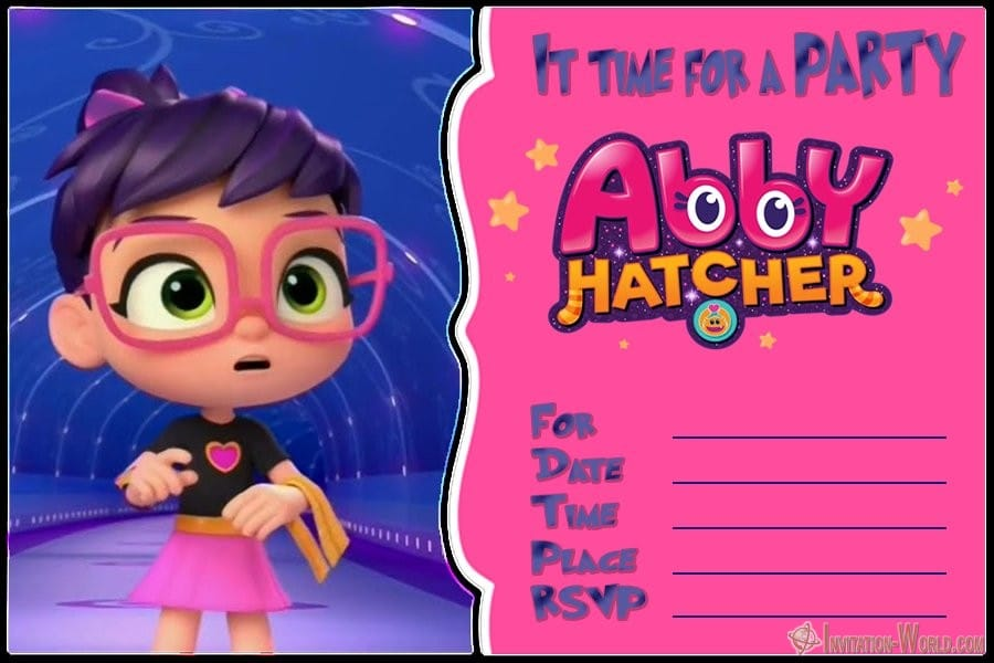 Abby Hatcher Party Invitation Free - Abby Hatcher Invitation Templates
