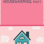 Cute Pink Housewarming invitation template