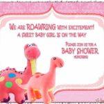 Dinosaur Baby Shower Invitation for Girl 150x150 - Pink Dinosaur Invitation Template