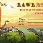Dinosaur Birthday Invitation 150x150 - Dinosaur Birthday Invitation Template Free