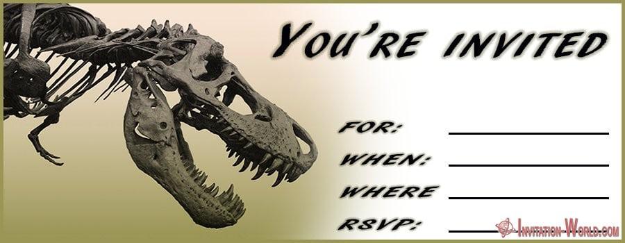 Dinosaur Birthday Invitation Card - Dinosaur Birthday Invitation Card