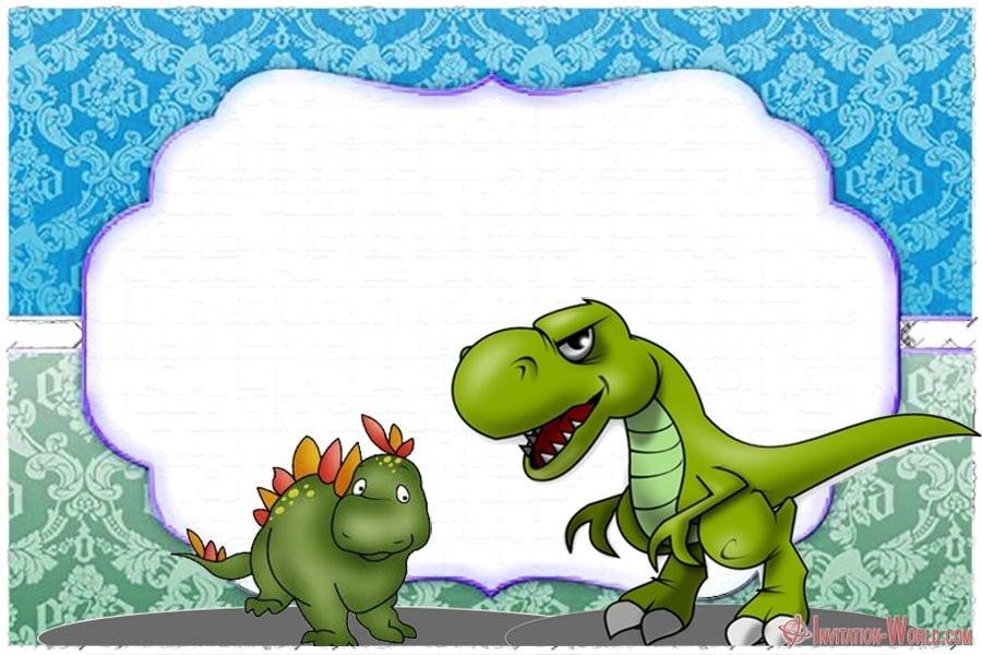 Dinosaur Birthday Invitation Template Free - Dinosaur Birthday Invitation Template Free