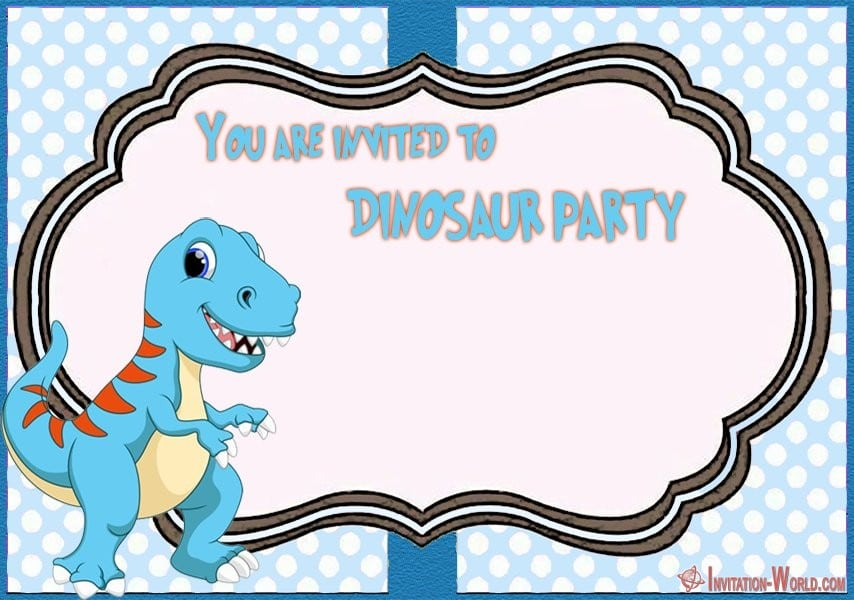 Dinosaur Party Invitation - 7+ Cute Dinosaur Birthday Invitation Templates