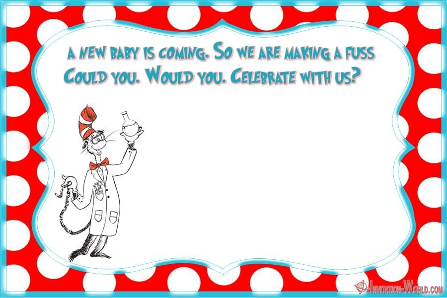Dr. Seuss Baby Shower Invitation - Dr. Seuss Invitations for Perfect Party