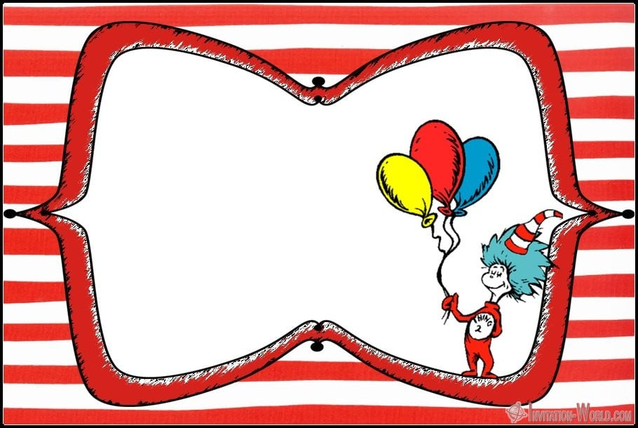 Dr. Seuss Birthday Invitation Blank - Dr. Seuss Invitations for Perfect Party