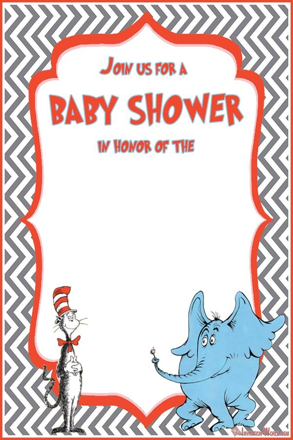Free Dr. Seuss Baby Shower Invitation Template - Dr. Seuss Invitations for Perfect Party