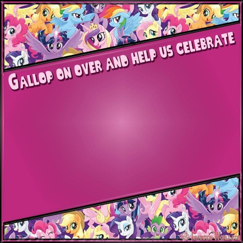 Free My Little Pony Party Invitation - My Little Pony Invitation Templates 2019
