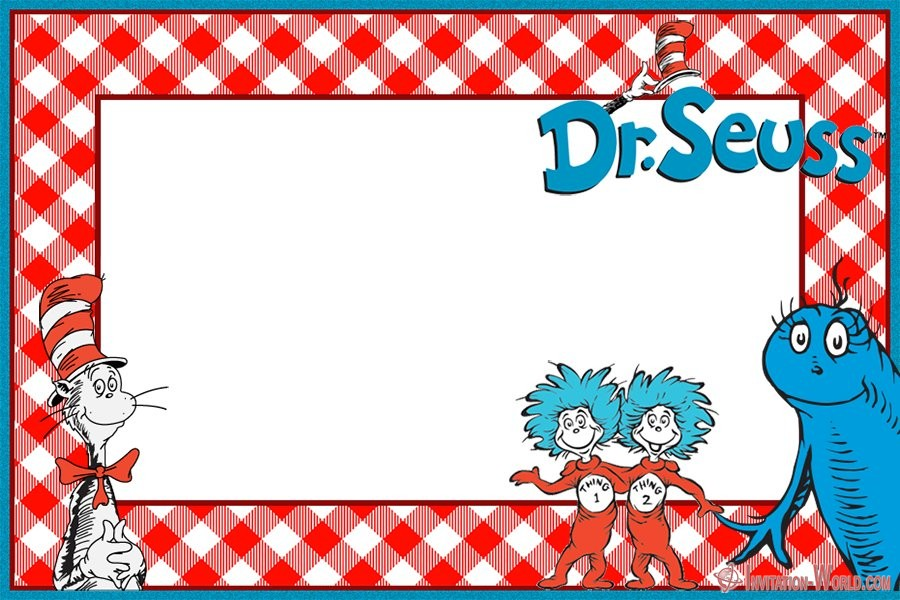Free Printable Dr. Seuss Invitation Card - Dr. Seuss Invitations for Perfect Party