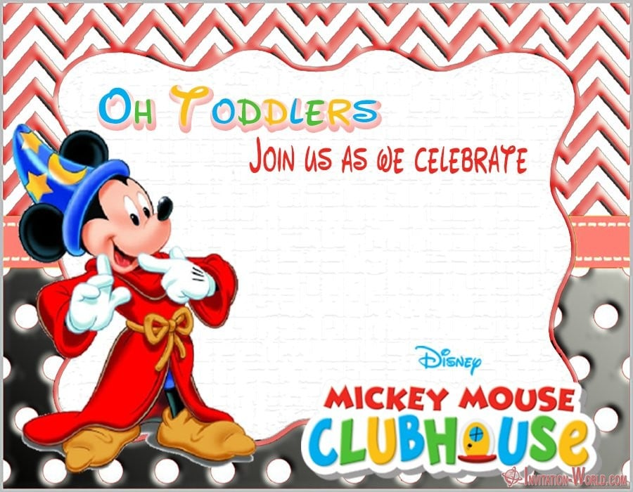 Free Printable Mickey Mouse Invitation Template - Free Printable Mickey Mouse Invitation Template