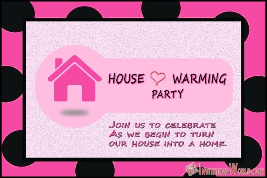 House Warming Party Celebration Invitation Template - ❤️ Housewarming Party Invitations