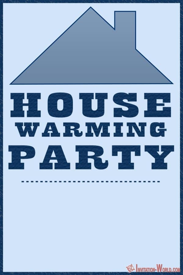 House Warming Party Invitation Blue - ❤️ Housewarming Party Invitations