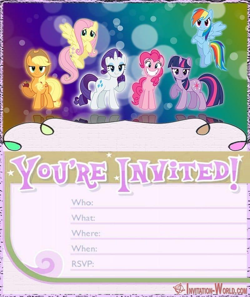 My Little Pony Birthday Invitation - My Little Pony Invitation Templates 2019