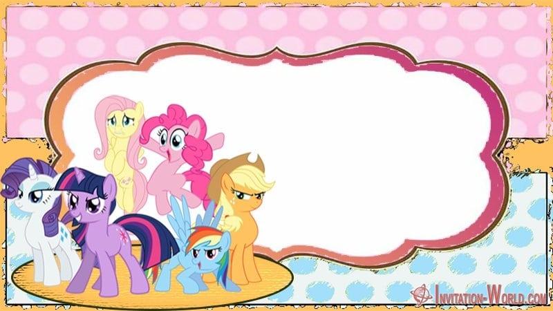 My Little Pony Invitation Card - My Little Pony Invitation Templates 2019