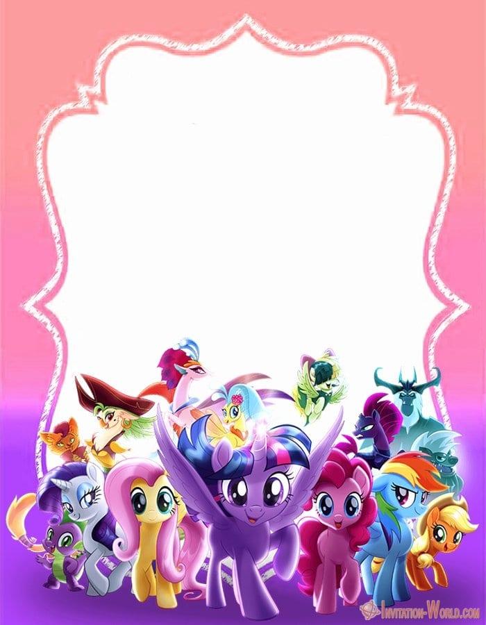My Little Pony Invitation - My Little Pony Invitation Templates 2019