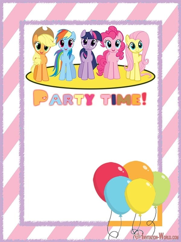 My Little Pony Party Invitation Template - My Little Pony Invitation Templates 2019