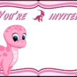 Pink Dinosaur Invitation Template 150x150 - Dinosaur Baby Shower Invitation for Girl