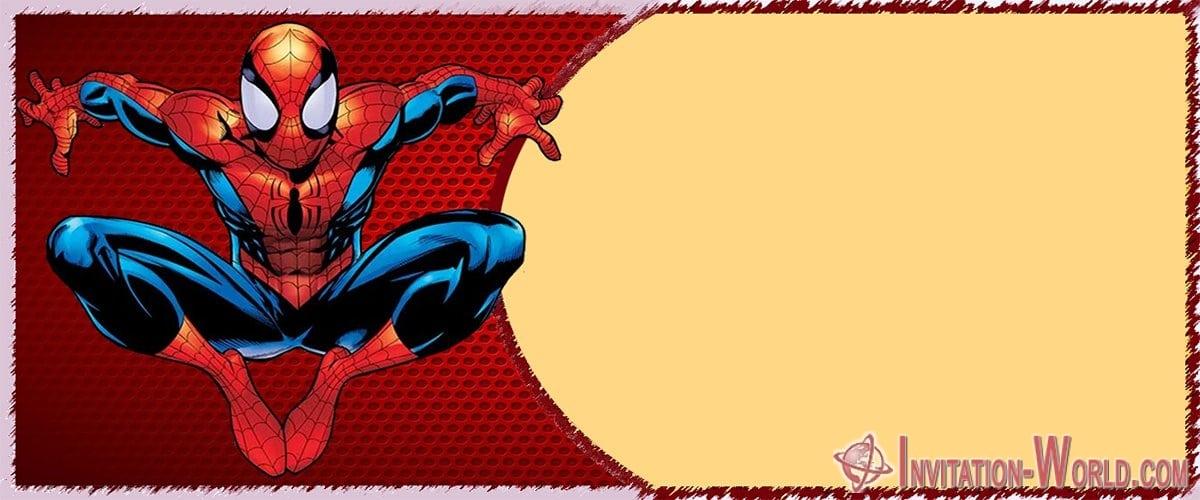 Free Personalized Spiderman Birthday Invitation - Free Personalized Spiderman Birthday Invitation