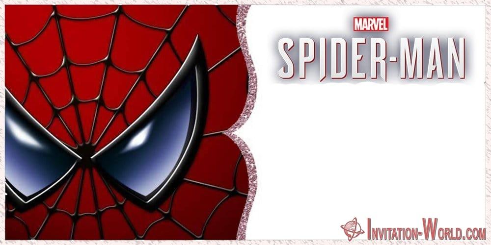 Marvel Spiderman Invitation Card - Marvel Spiderman Invitation Card