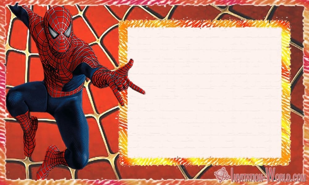 Spider Man Party Invitation - Spider-Man Birthday Party Invitation Cards