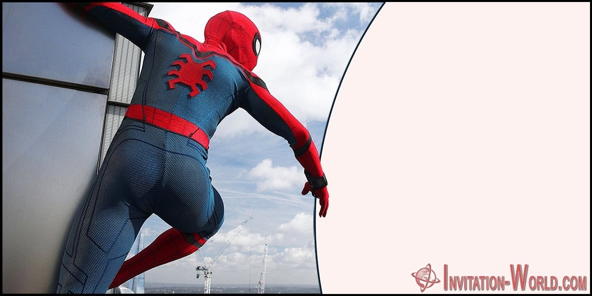 Spiderman Blank Invitation - Spiderman Blank Invitation