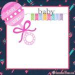 Baby Girl Sprinkle Invitation Card 150x150 - Baby Sprinkle Invitation for Girls
