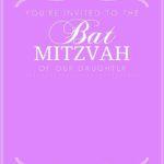 Bat Mitzvah Purple Invitation 150x150 - Bat Mitzvah Invitation Free