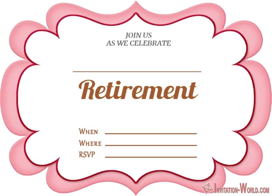 Blank Retirement Invitation - Retirement Party Invitations