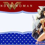 Custom Wonder Woman Invitation Template