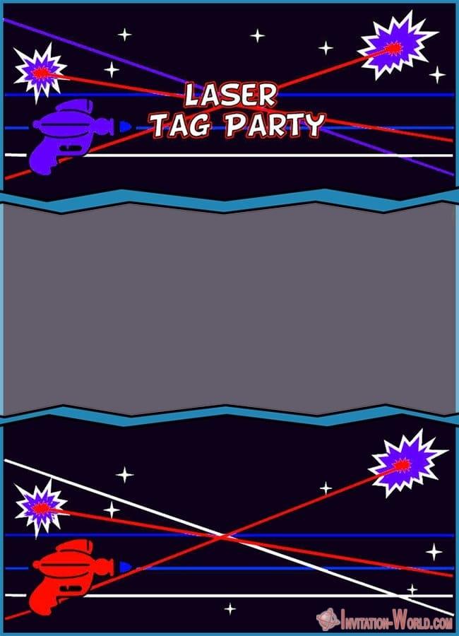 Free Laser Tag Invitation Template - Laser Tag Birthday Party Invitations