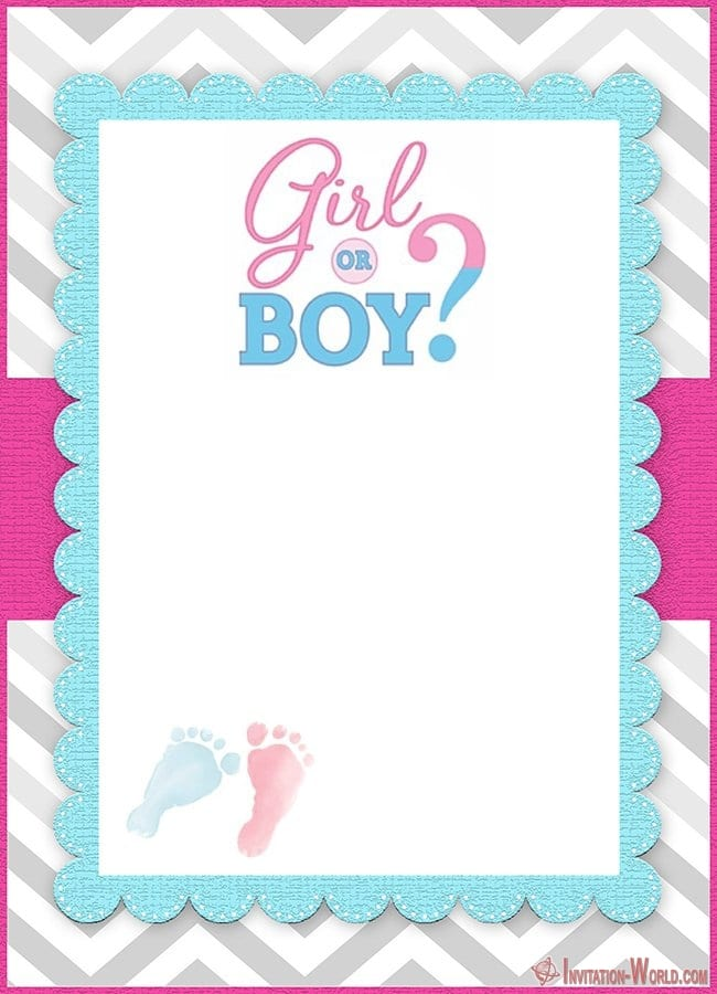 Free Printable Gender Reveal Invitation - Gender Reveal Invitation Templates