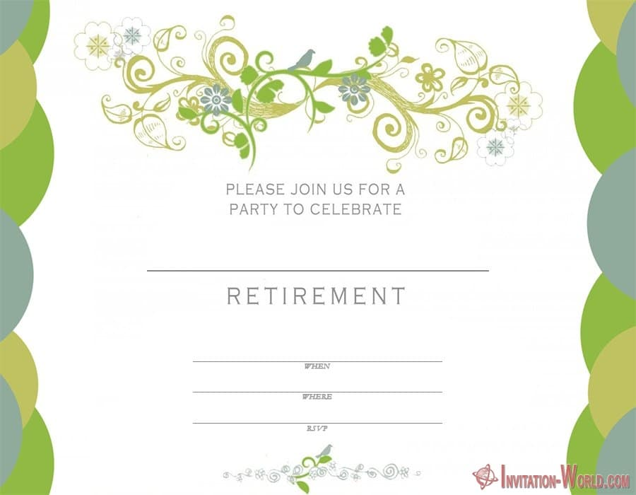Free Printable Retirement Invitation Template - Retirement Party Invitations