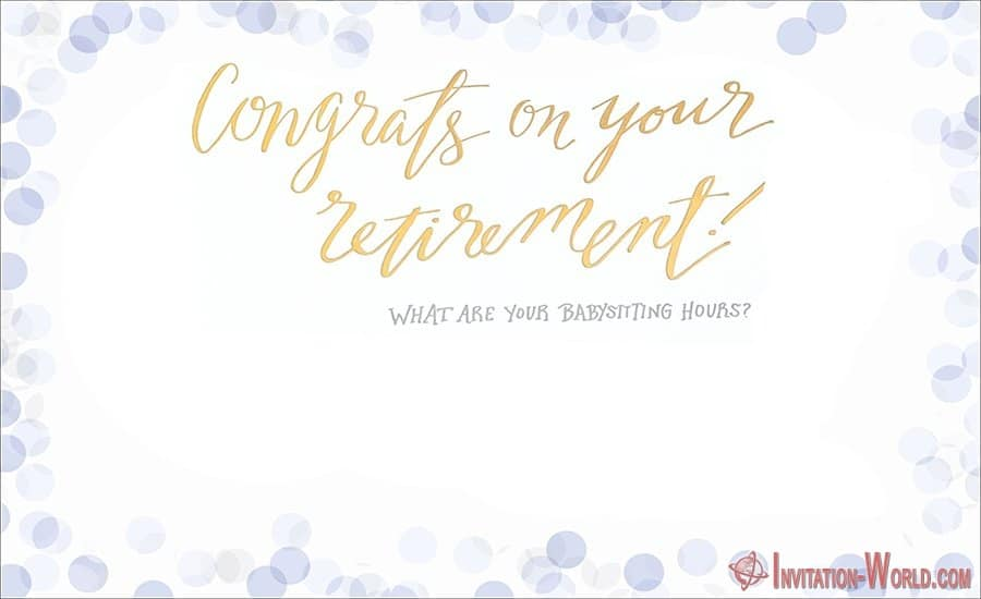 Free Retirement Invitation Template - Retirement Party Invitations