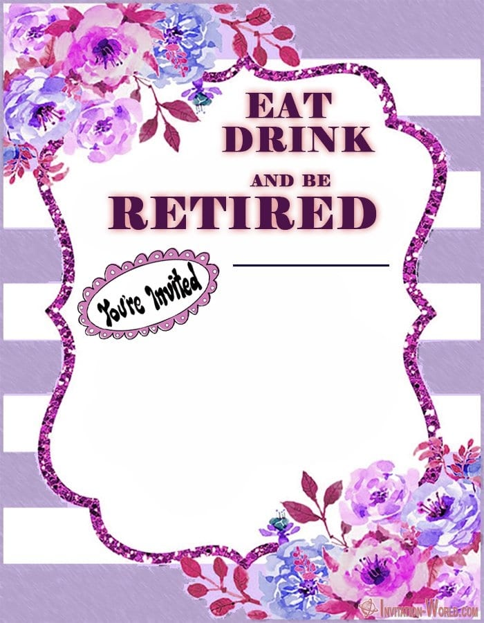 Funny Retirement Invitation - Retirement Party Invitations