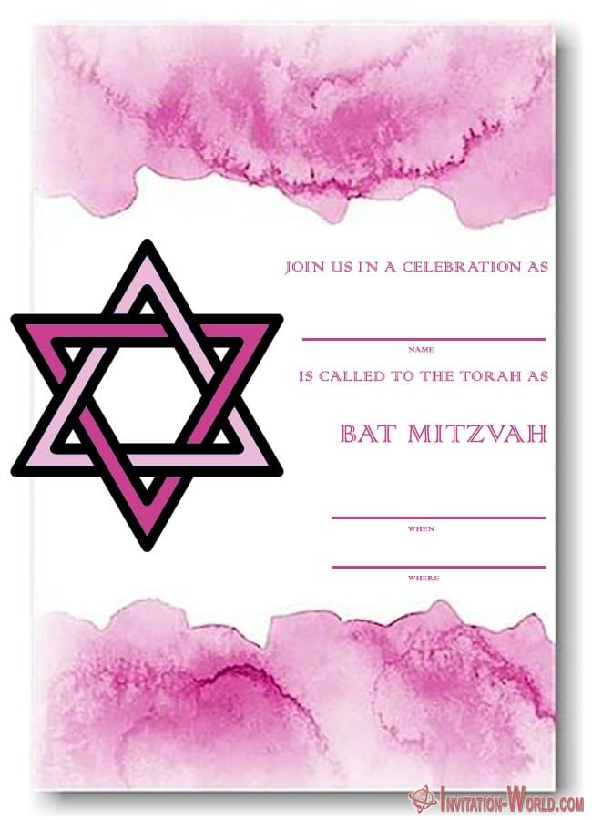 Hebrew Bat Mitzvah Invitation Free 650x620 - 8+ Bat Mitzvah Free Invitation Templates