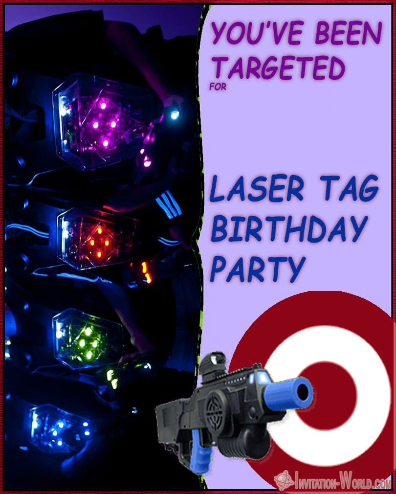 Laser Tag Birthday Invitation - Laser Tag Birthday Party Invitations