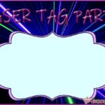 Laser Tag Invitation Card