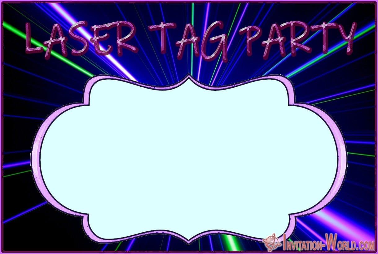 Laser Tag Invitation Card - Laser Tag Invitation Card