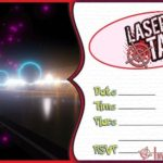 Laser Tag Invitation Template