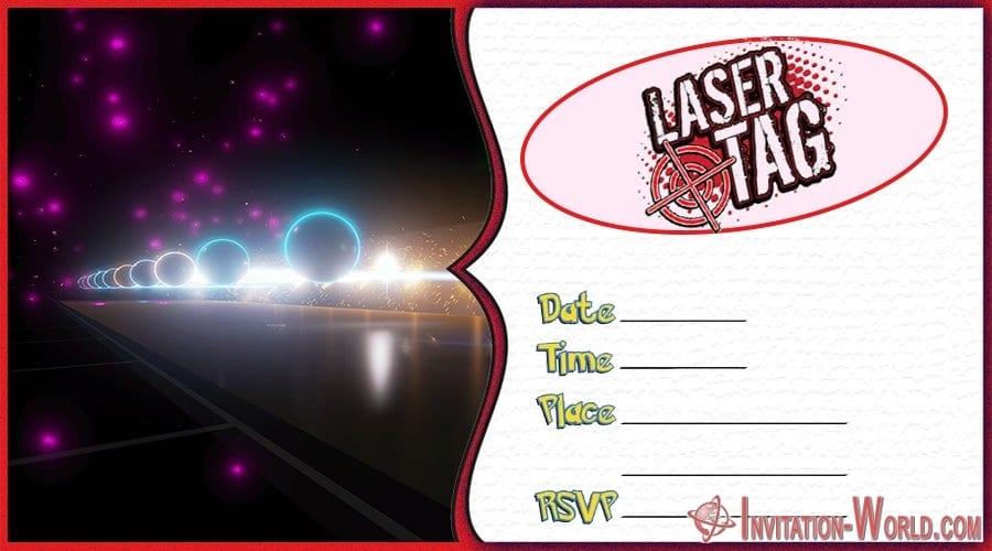 Laser Tag Invitation Template - Laser Tag Birthday Party Invitations