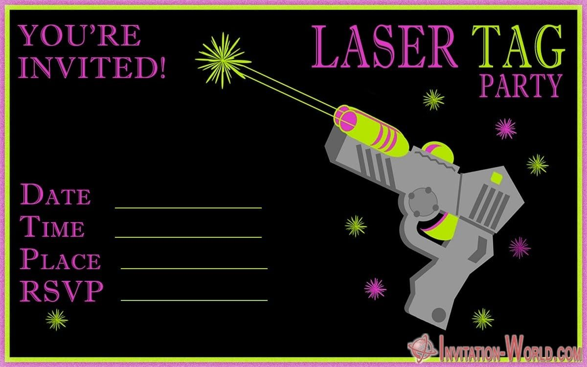 Laser Tag Party Invitation 1200x750 - Laser Tag Birthday Party Invitations