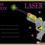 Laser Tag Party Invitation