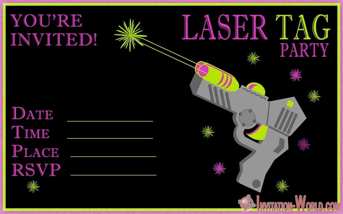 Laser Tag Party Invitation - Laser Tag Party Invitation