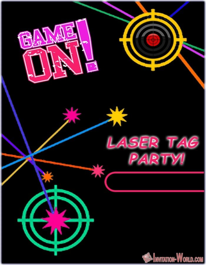 Laser Teg Design - Laser Tag Birthday Party Invitations