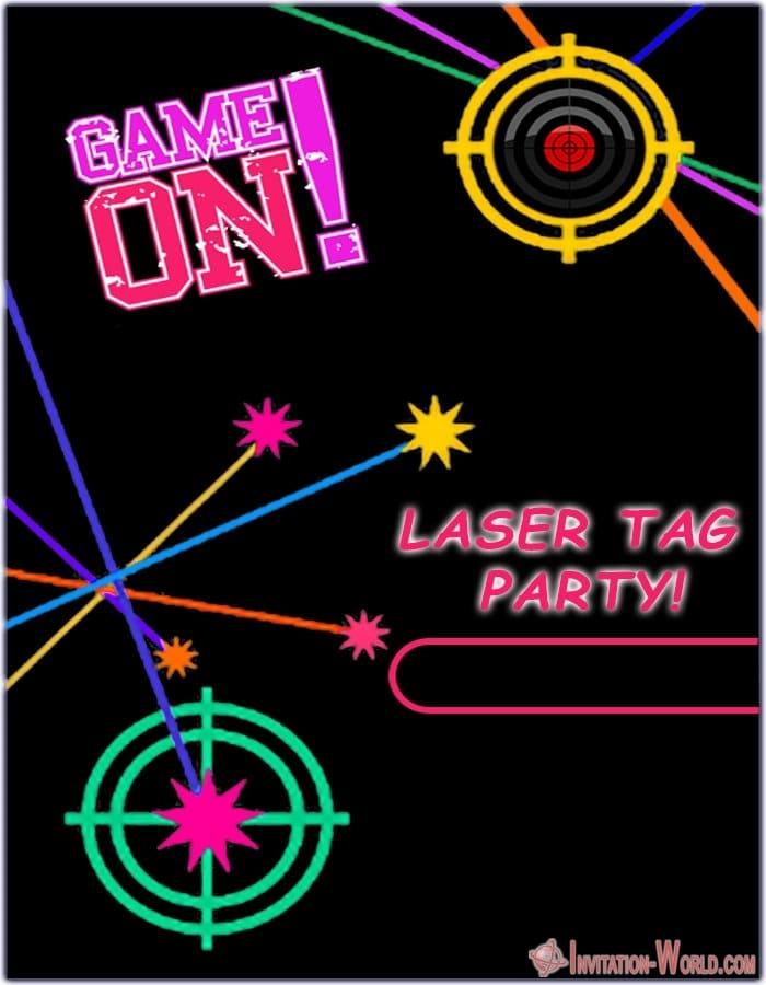 Laser Teg Design - Laser Tag Birthday Party Invitations